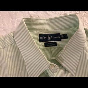 Ralph Lauren polo men's XXL green striped shirt